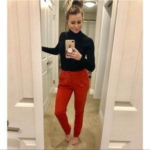Madewell Buckley Tailor red/orange dress pants